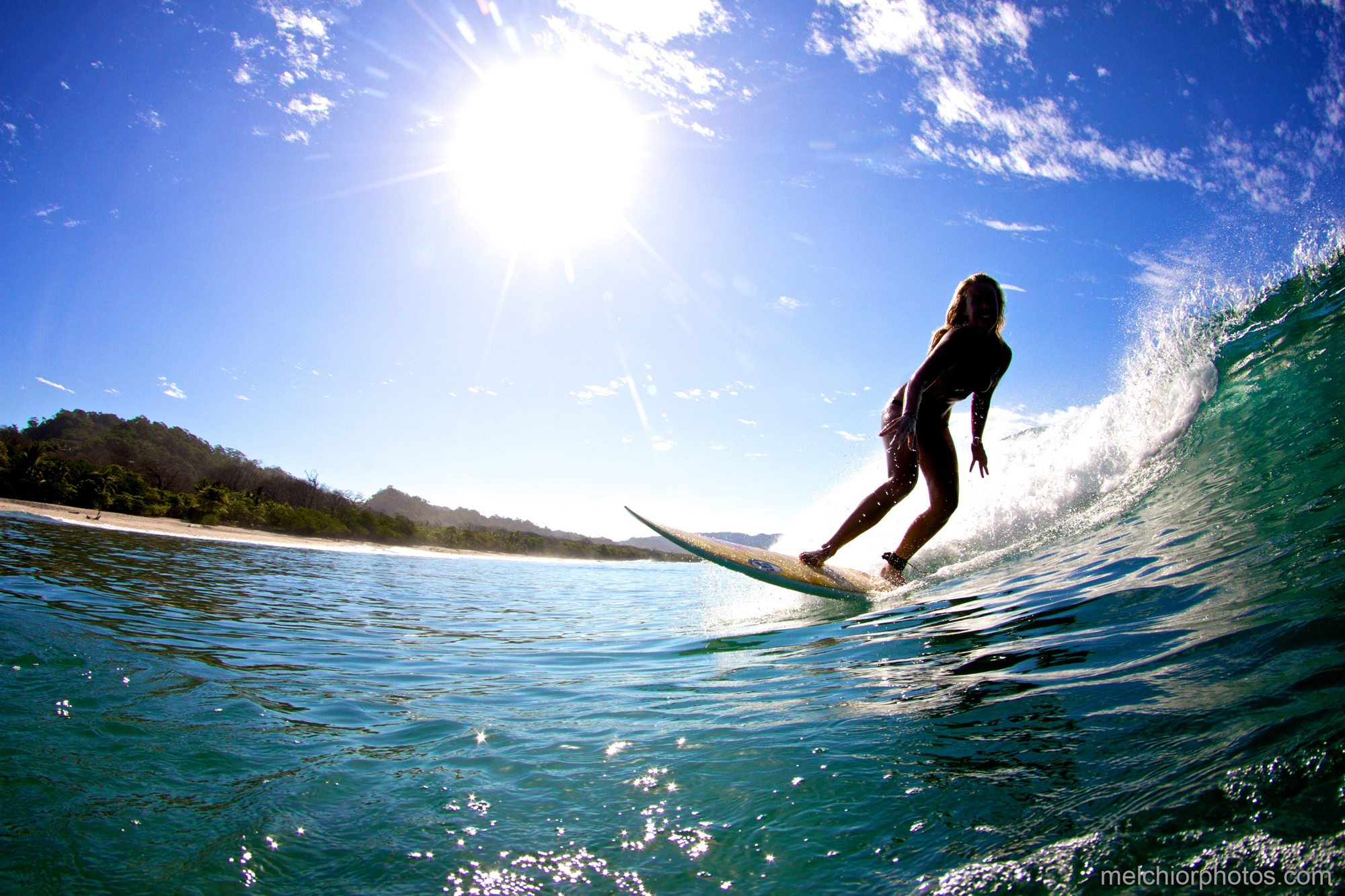 Surfing while staying at Makanas in Santa Teresa Costa Rica