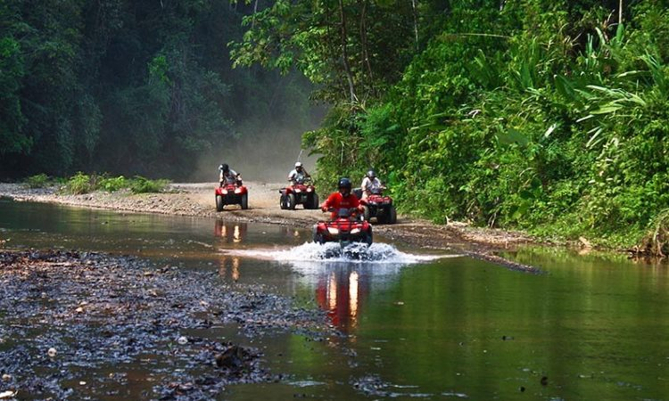 ATV adventure tour while staying at Makanas in Santa Teresa Costa Rica